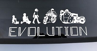 2 X Sidecar Evolution Vinyl Decals Stickers Graphics Cars White Ebay