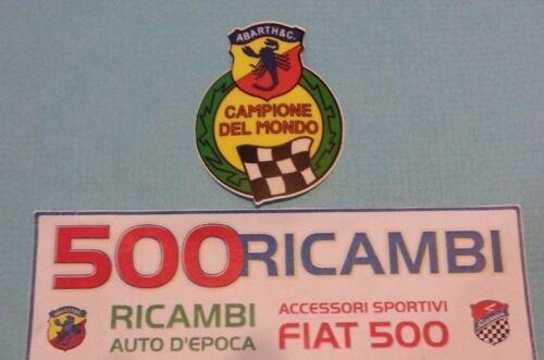 FIAT 500 F//L//R ADESIVO FREGIO CAMPIONE DEL MONDO SCORPIONE ABARTH STEMMA IN PVC