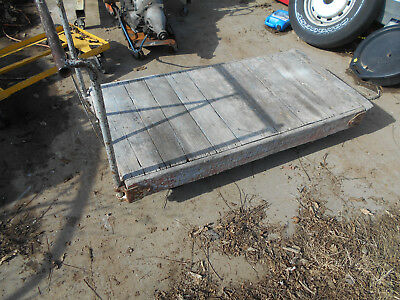 Vintage Factory Warehouse Dolly Railroad Cart Coffee Table Wood Look Ebay