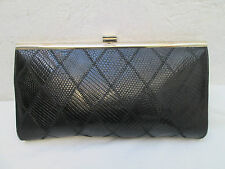 AUTHENTIQUE SAC A MAIN CUIR BERMA PARIS SERPENT OU CROCODILE TBEG bag