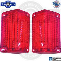 68 El Camino / Wagon Tail Light Lamp Lens W/gasket Usa - Pair