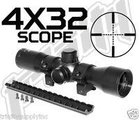 Trinity 4x32 Compact Shotgun Scope W/rings & Scope Base Fits H&r1871 Nef Pardner