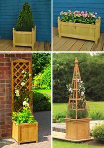 garden planters. Image Is Loading Gardman-Wooden-Garden-Planters-Trough-Planters-Trellis-amp- Garden Planters N