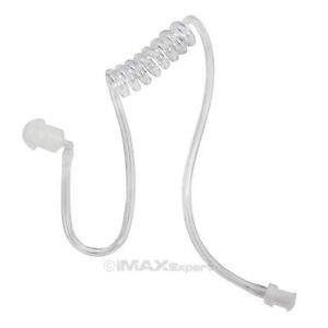 Clear Coiled Acoustic Tube with Earbud for Two-Way Radio EARPIECE HEADSET MIC