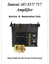 SANSUI AU-517 AU-717 Amplifier Restoration Manual-Power Protector Parts Included