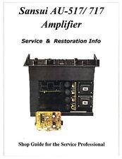 SANSUI AU-517 AU-717 Amplifier Restoration Manual-Power Protector Parts Inc