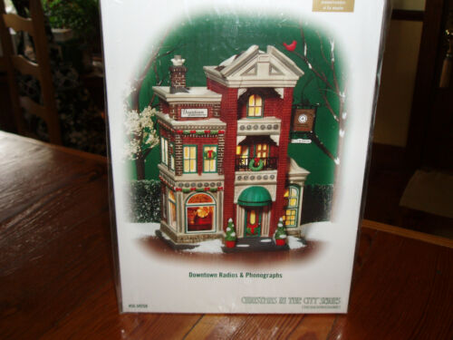DEPT 56 CHRISTMAS IN THE CITY DOWNTOWN RADIOS & PHONOGRAPHS NIB *Still Sealed*