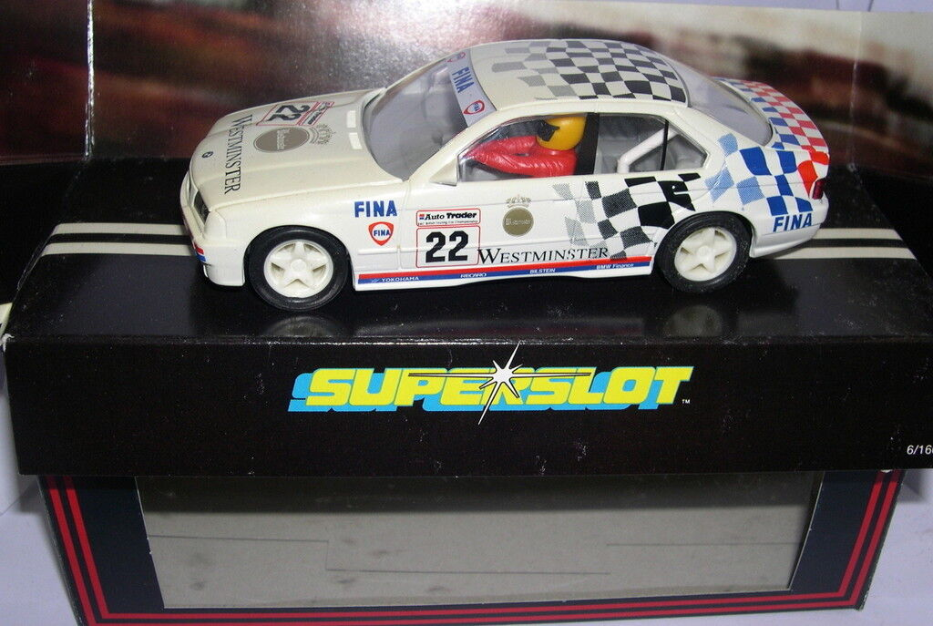 Superslot C326 BMW  318I Westminster  22 Scalextric UK MB  contatore genuino