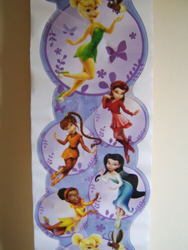 TINKERBELL TINK FAIRIES FAIRY WALL FEATURE DECOR WALL SCROLL  MATCHES BORDER