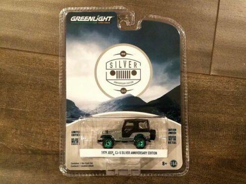 12680 27940C GreenLight Anniversary Collection Serie 6 1979 Jeep CJ-5 Silver