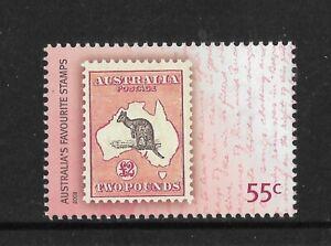 AUSTRALIA-2009-2-KANGAROO-Stamp-on-Stamp-1v-MINT-NEVER-HINGED