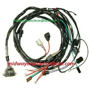 [WQZT_9871]  engine & front light wiring harness kit V8 67 Chevy Chevelle el camino HEI  | eBay | Chevy V8 Engine Wiring |  | eBay