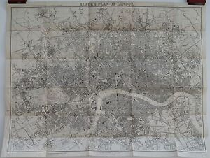Antique-maps-Black-039-s-plan-of-London-c-1883