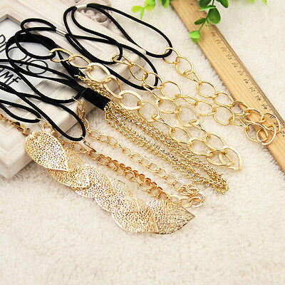 Women Fashion Metal Head Chain Jewelry Headband Head Piece Hair Band Punk Style