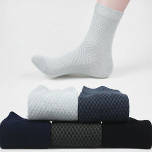 Les-hommes-de-fibres-de-Bambou-Chaussettes-Business-Anti-bacterial-Deodorant-Respirant-Long-Casual