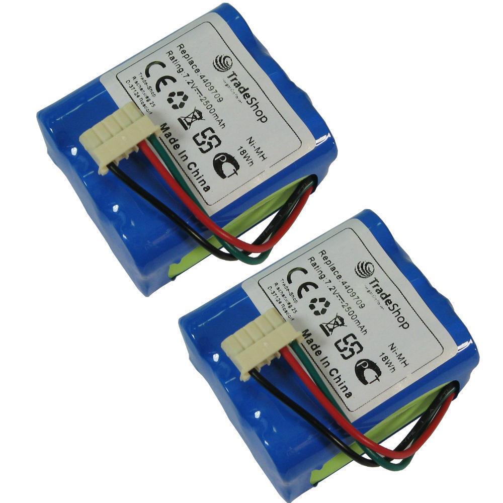 2x Ni-MH AKKU 7,2V 2500mAh ersetzt Dirt Devil iRobot 4409709, GPRHC202N026