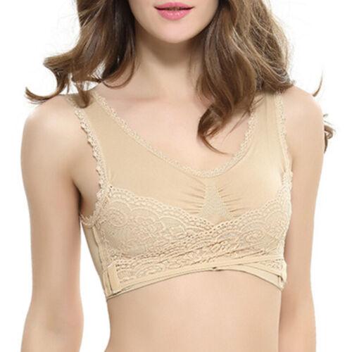 Womens Sports Bra Yoga Vest Crop Tops Stretch Seamless Comfort Bra Workout UK