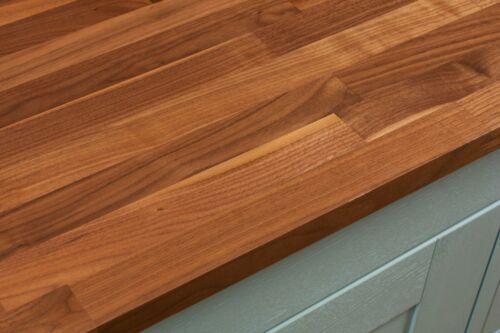 Solid Walnut Wooden Bathroom Worktop 2m x 365mm x 27mm Lacquered Vanity Counter