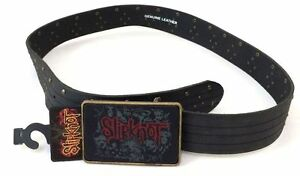 Slipknot-Studded-Leather-Black-Belt-w-Buckle-New-Official-Band-Merch