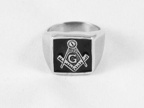 Knights Templar Size W Masonic Stainless Steel Freemasonry Ring