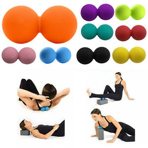 Peanut Lacrosse Massage Ball Trigger Point Yoga Therapy Myofascial