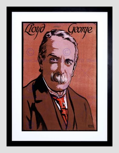 PAINTINGS PORTRAIT DAVID LLOYD GEORGE PRIME MINISTER FRAMED ART PRINT B12X9890