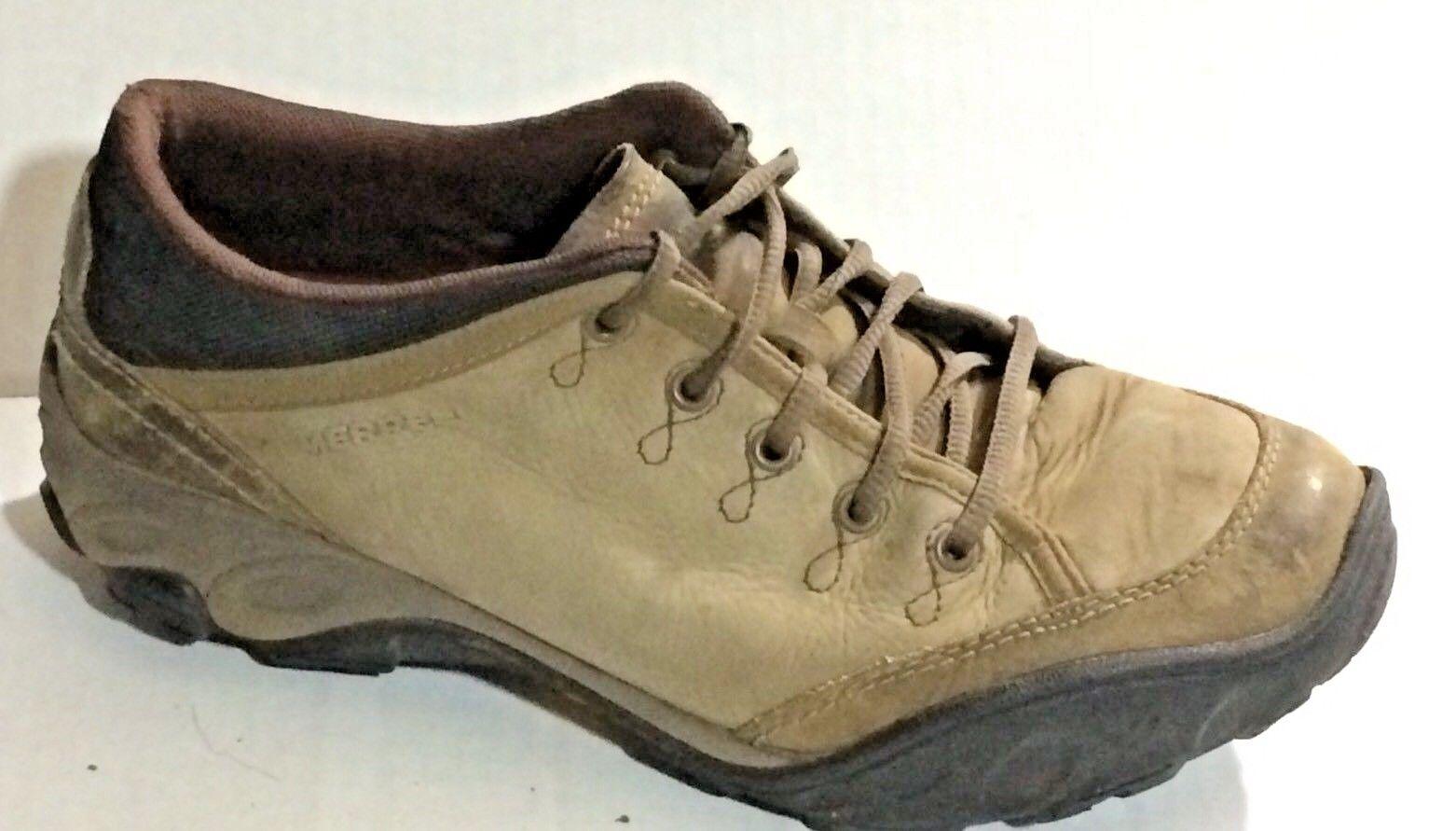 MERRELL Quartz Brown All Terrain 8 Walking Hiking Shoe Womens 8 Terrain Med Leather Vibram 180c58