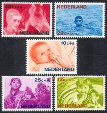Netherlands 1966 Welfare Fund/Children/Horses/Bicycle/Bikes/Transport 5v n39911