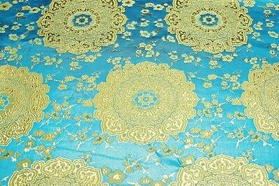 jacquard Brocade fabric with beautiful floral pattern, fancy brocade fabric,