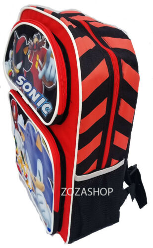 """Sonic 16/"""" Large Backpack and Lunch set 2 pc Licensed NWT"""