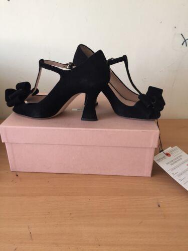 Miu Black Heels 3 Fantastisk 36 Uk Suede prw6OHpq