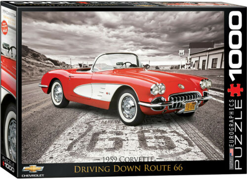 "Eurographics Jigsaw Puzzle 1959 Corvette /""Driving Down Route 66/"" 1000 Pieces"