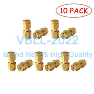 10X-SMA-Male-Plug-to-PR-SMA-Male-Female-Pin-RF-Coax-Connector-Adapter-Converter