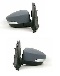 Ford Kuga Mk 2 2012-/> Primed Door Wing Mirror Cover Pair Left /& Right