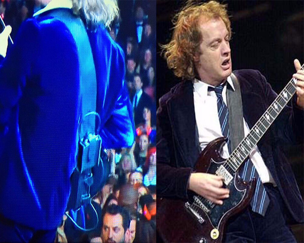 ANGUS YOUNG and AC DC LEATHER GUITAR STRAP COPY