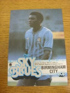 03031984 Coventry City v Birmingham City  Slight Fold - Birmingham, United Kingdom - Returns accepted within 30 days after the item is delivered, if goods not as described. Buyer assumes responibilty for return proof of postage and costs. Most purchases from business sellers are protected by the Consumer Contr - Birmingham, United Kingdom