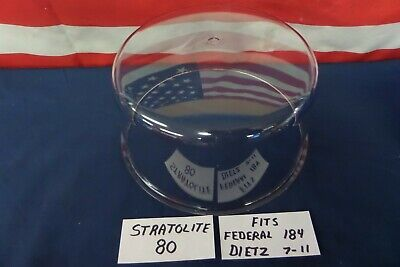NEW Stratolite 80 Light Dome for Federal 184 Dietz 7-11 Lights CLEAR