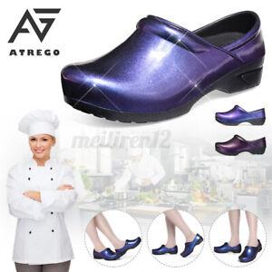 AtreGo Womens Non-slip Chef Safety Work Shoes Kitchen Waterproof Nursing Garden