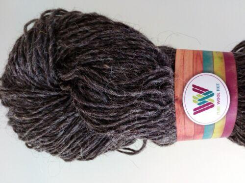 Black Light /& Dark Grey 100 g Hanks 100/% Pure Wool Single Spun: Natural White