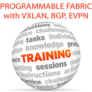 Details about PROGRAMMABLE FABRIC with VXLAN BGP EVPN - Video Training  Tutorial DVD