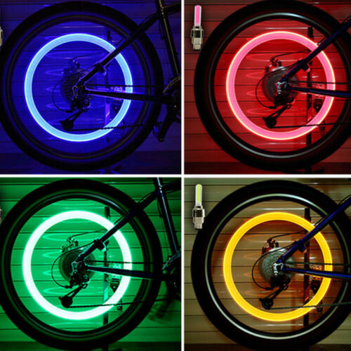 2X LED Lamp Flash Tyre Wheel Valve Cap Light for Car Bike Bicycle Motorcycle New