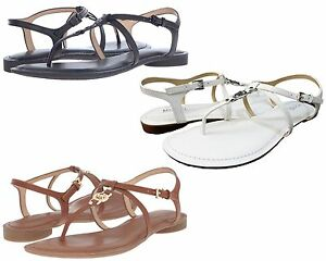 Michael-Kors-Womens-Bethany-Slip-On-Buckle-Ankle-Strap-Casual-Flat-Thong-Sandals