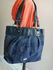 TOMMY-HILFIGER-womens-BLUE-purse-handbag-shoulder-bag-LARGE-more-listed-in-store