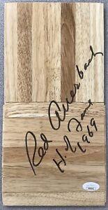 Red Auerbach Signed Floor Board Basketball Court Bos Celtics Autograph Inscr JSA