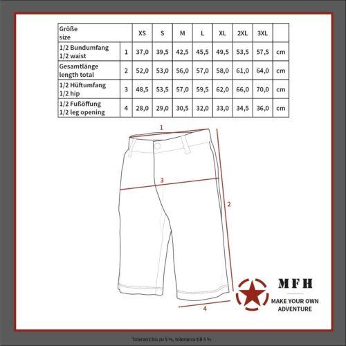 MFH Bermuda Pantaloncino Short uomo militari US BDU RIP STOP Shorts 01513P