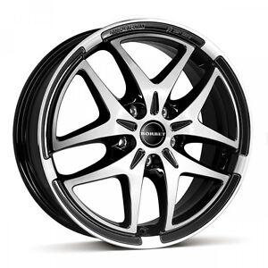 Satz-17-Zoll-Alufelgen-BORBET-XB-Black-Polished-VW-Golf-5-Golf-6-Audi-Skoda-Seat