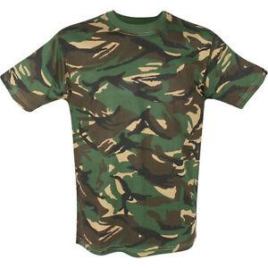 CAMOUFLAGE-DPM-Bambini-T-shirt-Costume-esercito-mimetico-3-4-anni