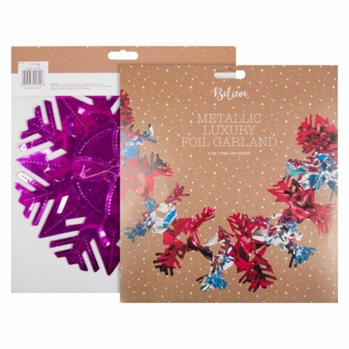 Xmas Foil Hanging Wall//Ceiling Decoration Garland,Starburst,Ball Red,Gold,Silver