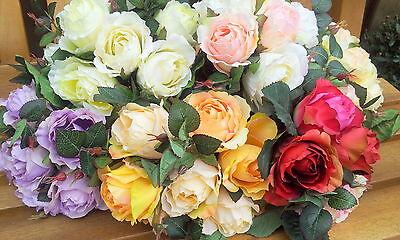 Di Larghe Vedute Rose Inglese Kent Herrlicher Rose Mazzo Di Rose Fiori Seta Arte Fiori Rosa- Per Spedizioni Veloci