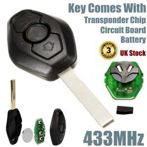 Tasto-remoto-FOB-KEYLESS-caso-433MHZ-trasponditore-per-BMW-E46-E39-3-5-7-Z3-M3